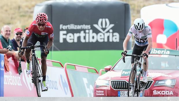 Vuelta a España:  Chris Froome se enfadó mucho con Nairo Quintana en Aitana