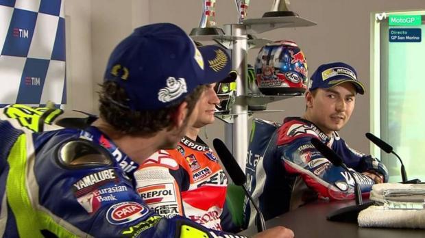 MotoGP:  Tensa rueda de prensa entre Lorenzo y Rossi