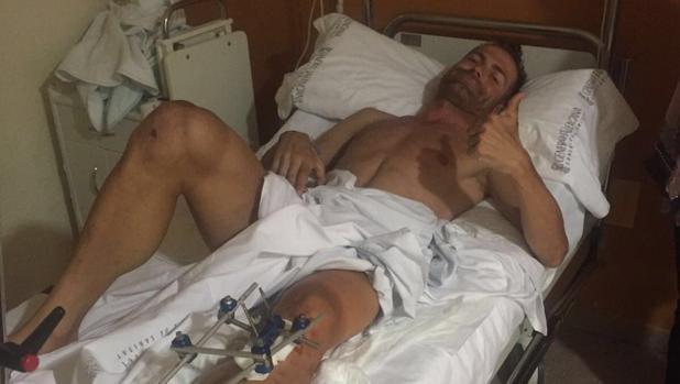 Rojas, en el hospital