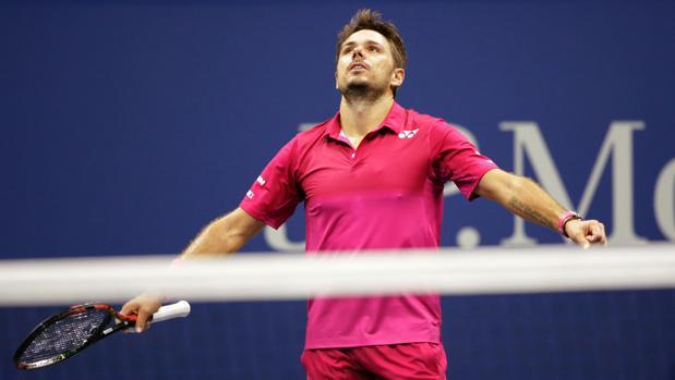 Stan Wawrinka, tras ganar la final del US Open a Djokovic