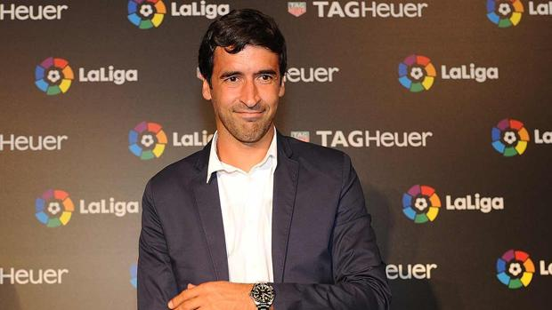 Raúl González, en un acto de La Liga