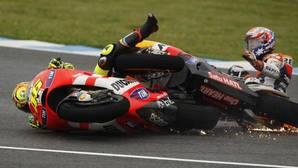 Las grandes broncas de Valentino Rossi