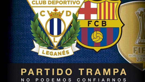 La Liga:  El Leganés anuncia la llegada del Barça con ironía