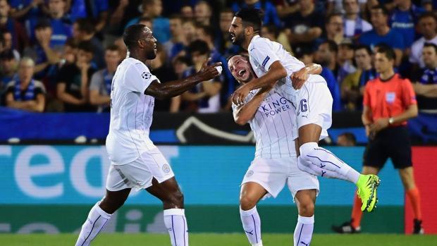 Brujas-Leicester:  Mahrez alegra el estreno del Leicester