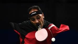 El egipcio que juega al tenis de mesa sin brazos
