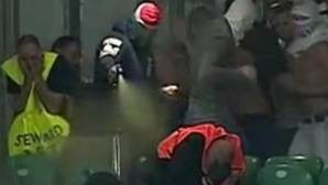 Ataque de los ultras del Legia con gas pimienta