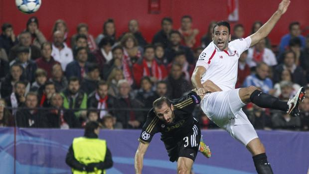 Rami y Chiellini, durante uno de los partidos que disputaron la temporada pasada