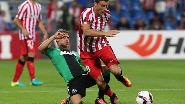 Europa League:  El Athletic naufraga ante la organización táctica del Sassuolo