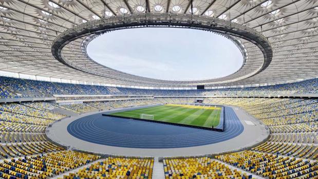 Champions League:  El Estadio Olímpico de Kiev, sede de la final de 2018