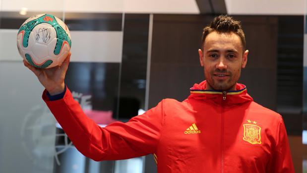 Paco Sedano, portero de la selección española