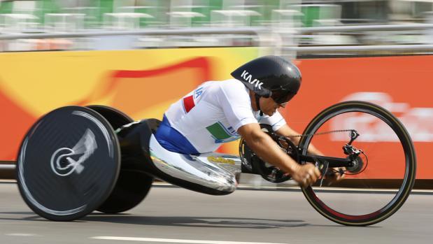 Alex Zanardi, en la prueba contrarreloj en Río