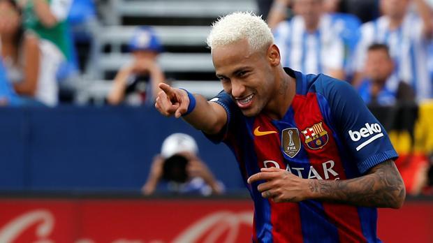 Neymar, en una imagen del Leganés-Barcelona