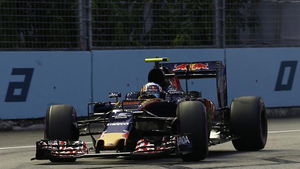 Carlos Sainz, durante la clasificación de Singapur