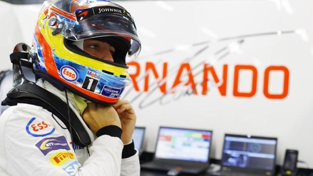 Fernando Alonso, en el circuito de Singapur