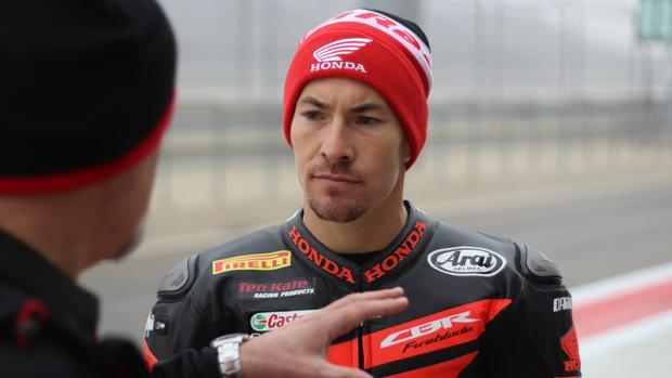 Nicky Hayden, en una imagen del Mundial de Superbikes