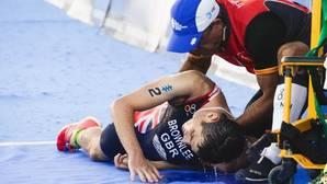 Un golpe de calor a 300 metros de la meta le cuesta el título a Jonathan Brownlee