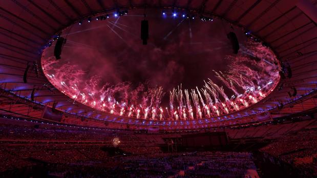 Los fuegos artificiales iluminaron el cielo de Maracaná