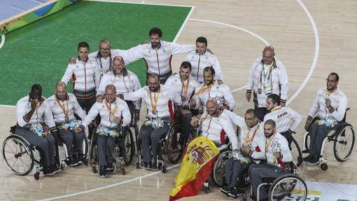 La selección de baloncesto, durante los Juegos Paralímpicos de Río 2016