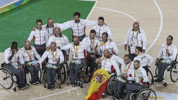La selección española de baloncesto en silla de ruedas consiguió una plata en los Juegos Paralímpicos de Río 2016