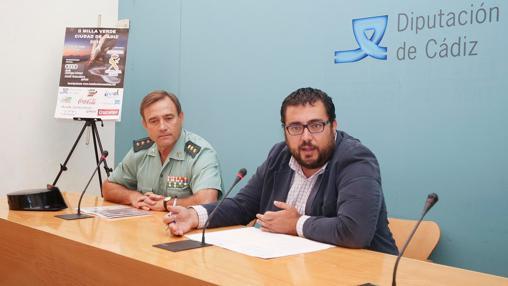 El coronel Alfonso Rodríguez Castillo y el diputado Jaime Armario