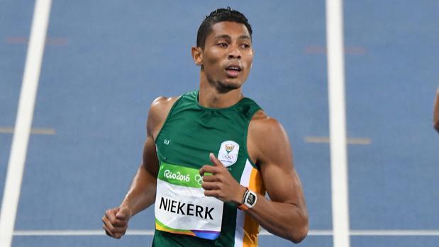 Wayde van Niekerk, en la final del 400 de los Juegos de Río