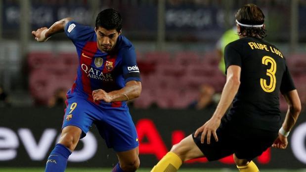 Barcelona-Atlético:  Luis Suárez a Flilipe Luis: «Te has tirado, payaso»