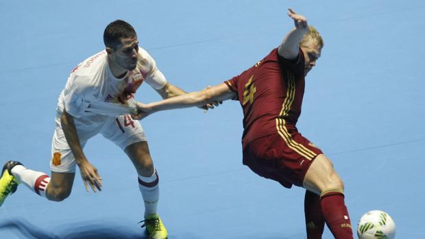 Durante el encuentro España cayó ante Rusia con un resultado de 6-2