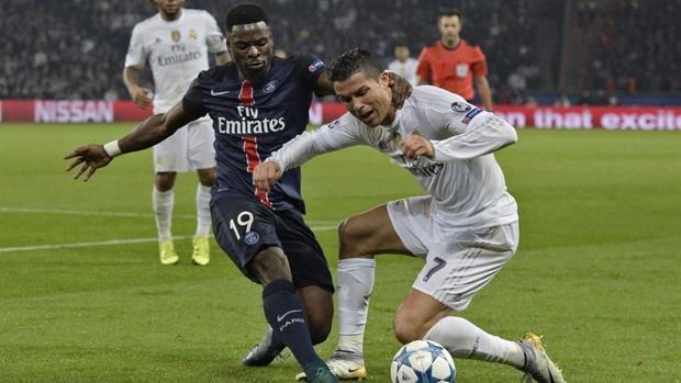 Serge Aurier, en un partido ante el Real Madrid