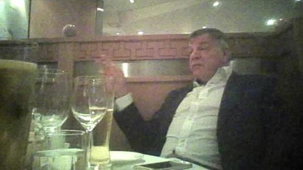 Allardyce, en el vídeo grabado con cámara oculta
