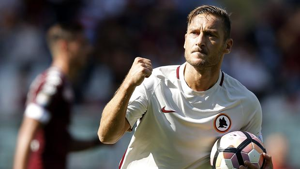 Francesco Totti, tras marcar este fin de semana al Torino