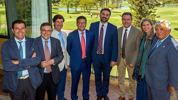 Almuerzo institucional celebrado recientemente en las instalaciones del Real Club de Golf
