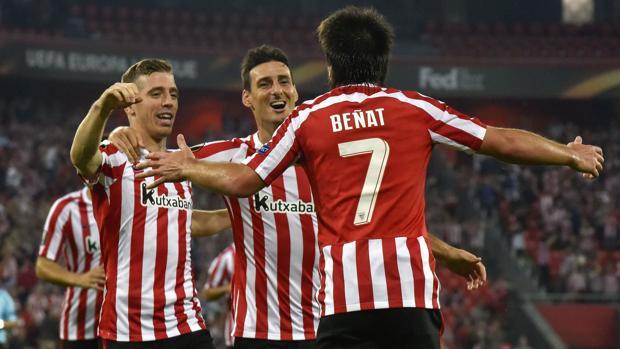 Athletic-Rapid Viena:  Beñat da un triunfo clave al Athletic