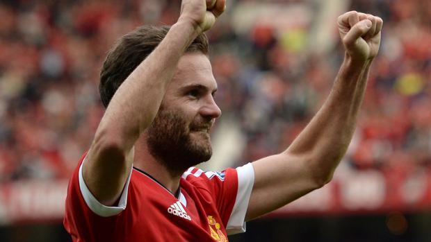 El jugador español del Machester United, Juan Mata