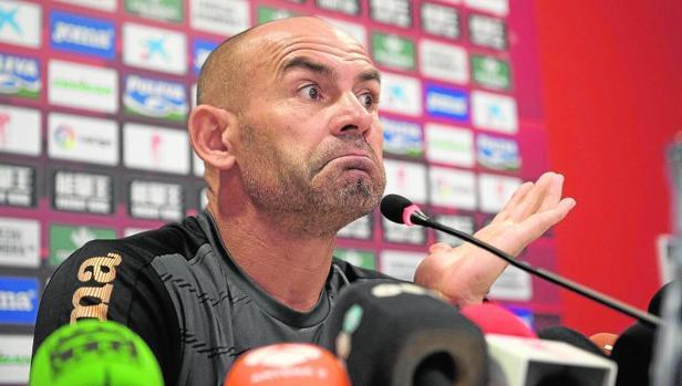 Paco Jémez, en su despedida de ayer