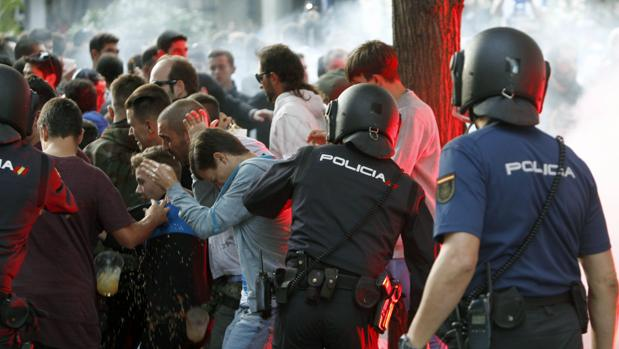 Disturbios antes del Deportivo-Sporting