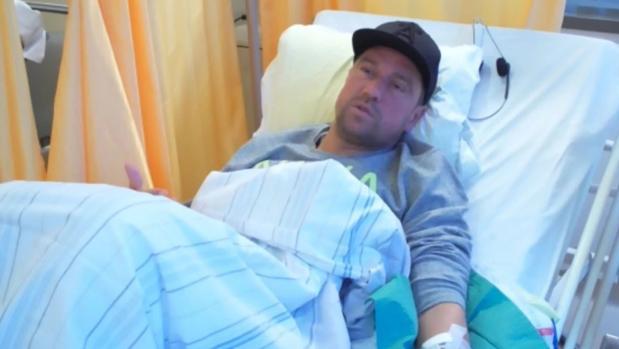 Ivan Klasnic, durante una sesión de diálisis