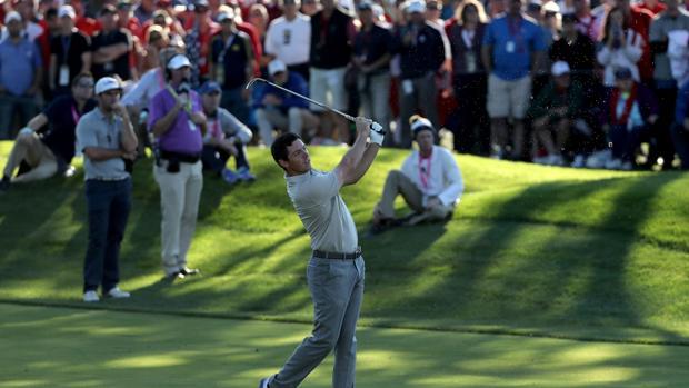 Rory McIlroy su compañero Pieters han sido los únicos capaces de ganar tres veces para Europa