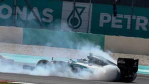 Fuego en el Mercedes