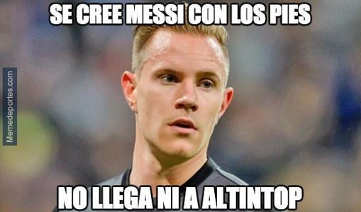 Celta-Barcelona:  Los mejores memes sobre Ter Stegen
