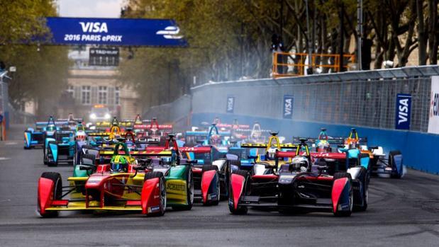 Salida del pasado ePrix en París