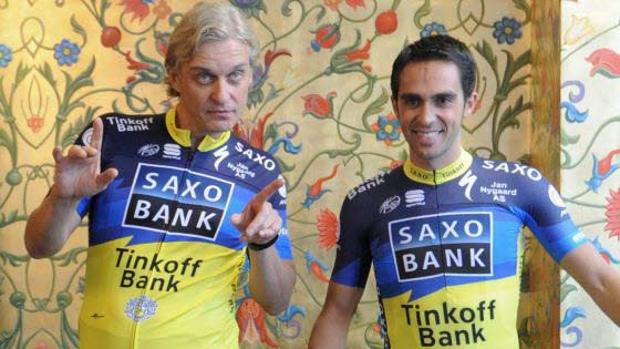 Tinkov y Contador, en una imagen de 2013