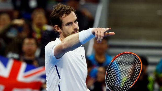 Andy Murray, durante su partido de primera ronda en Pekín
