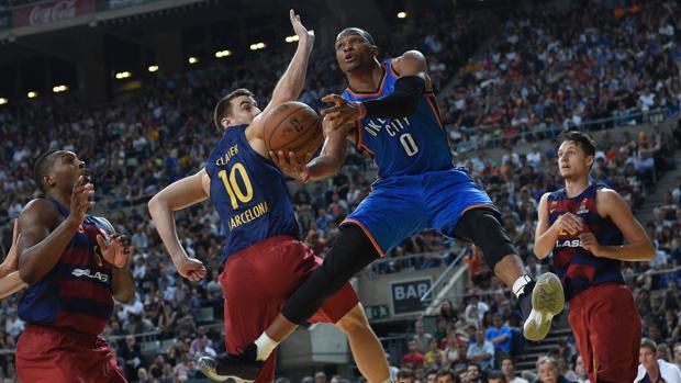NBA Global Games:  El Barça casi tumba a Oklahoma