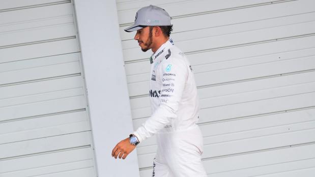 Lewis Hamilton, tras la clasificación del GP de Japón