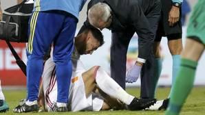 Ramos tiene dañado el ligamento lateral interno de su rodilla izquierda