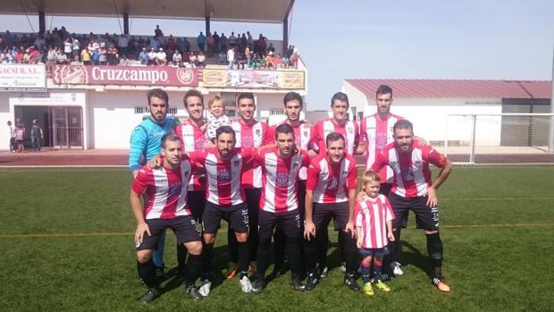 Formación del Azuaga, segundo clasificado, en un partido de esta temporada