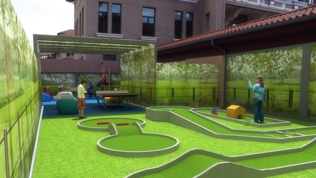 Nuevas instalaciones de golf en el Hospital Valdecilla