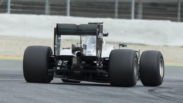 Nico Rosberg, durante el test de neumáticos en Montmeló