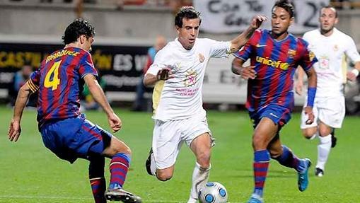 Partido de Copa en 2009 entre la Cultural y el Barcelona