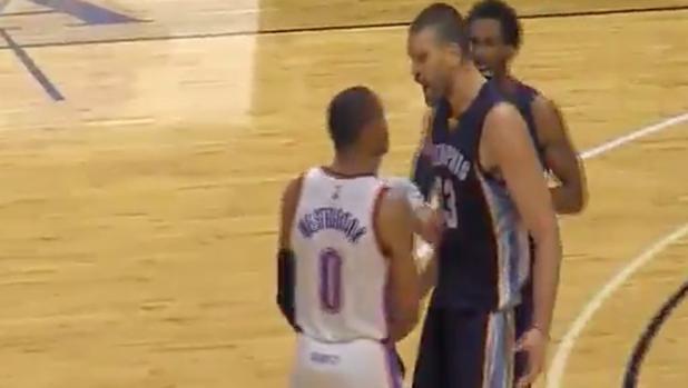 NBA:  Marc Gasol y Westbrook llegan a las manos